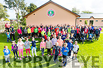 The crowd at the start of the Tony O'Donoghue Memorial Walk at St Pat's GAA Club on Sunday