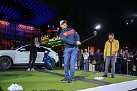 Richard McEvoy (ENG) and Paul Casey (ENG) at the Porsche Urban Golf Challenge in the Reeperbahn the famous Red light district in Hamburg ahead of the Porsche European Open at Green Eagles Golf Club, Luhdorf, Winsen, Germany. 03/09/2019.<br /> Picture Fran Caffrey / Golffile.ie<br /> <br /> All photo usage must carry mandatory copyright credit (© Golffile | Fran Caffrey)