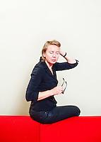 The Netherlands, Utrecht, 25 September 2011. The Netherlands Film Festival 2011. Portrait Urszula Antoniak, Polish/Dutch director, of feature film Code Blue, among others. Photo: Bram Belloni / Nederland, Utrecht, 25 september 2011. Het Nederlands Film Festival 2011. Portret Urszula Antoniak, Pools/Nederlands regisseur, van onder andere lange film Code Blue. Foto: Bram Belloni / (c) 2011, www.belloni.nl