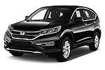 2015 Honda CR-V Elegance 5 Door SUV Angular Front stock photos of front three quarter view