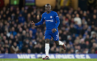 Ngolo Kante of Chelsea puts a thumb up during the Premier League match between Chelsea and West Bromwich Albion at Stamford Bridge, London, England on 12 February 2018. Photo by Andy Rowland.