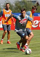 Napoli Calcio ritiro precampionato a Dimaro ( TN)  18 Luglio 2014<br /> nella foto   Christian Maggio <br /> Napoli soccer pre season summer training in Dimaro