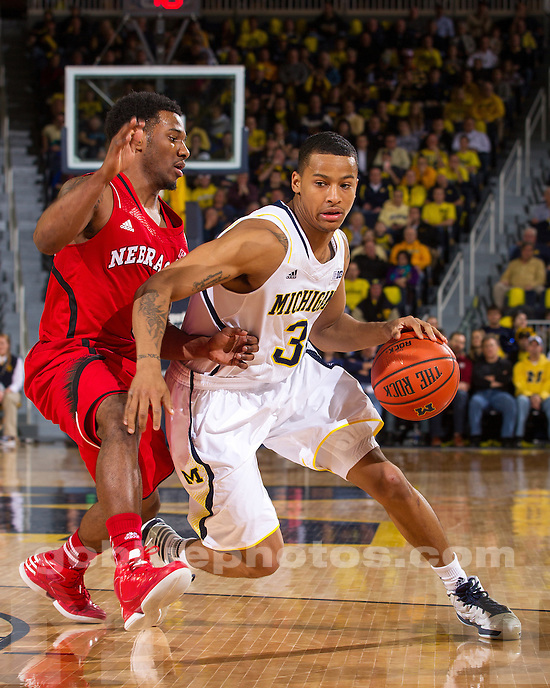 The University of Michigan men's basketball team beat Nebraska, 62-47, to tie a program best 16-0 start at Crisler Center in Ann Arbor, Mich., on January 9, 2013.