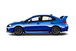 Car driver side profile view of a 2017 Subaru WRX STI Sport Premium 4 Door Sedan