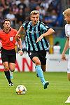 11.08.2019, Carl-Benz-Stadion, Mannheim, GER, DFB Pokal, 1. Runde, SV Waldhof Mannheim vs. Eintracht Frankfurt, <br /> <br /> DFL REGULATIONS PROHIBIT ANY USE OF PHOTOGRAPHS AS IMAGE SEQUENCES AND/OR QUASI-VIDEO.<br /> <br /> im Bild: Maurice Deville (SV Waldhof Mannheim #14)<br /> <br /> Foto © nordphoto / Fabisch