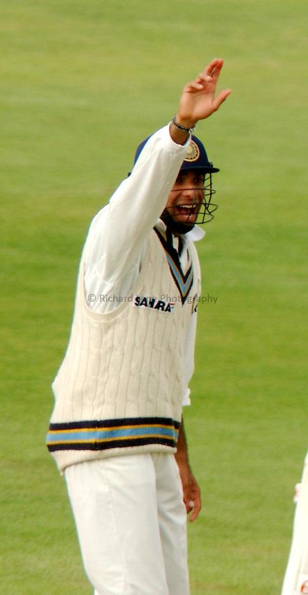 Photo. Jed Wee.England v India, 3rd Npower Test, Headingley, Leeds. 25-8-2002..India's VVS Laxman.