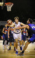Action from the National Basketball League match between Cigna Wellington Saints and Nelson Giants at TSB Bank Arena in Wellington, New Zealand on Saturday, 25 April 2019. Photo: Mike Moran / lintottphoto.co.nz