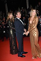 "CANNES, FRANCE. May 24, 2019: Sylvester Stallone, Jennifer Flavin & Sistine Rose Stallone at the Hommage to Sylvester Stallone and screening of ""Rambo: First Blood"" at the Festival de Cannes.<br /> Picture: Paul Smith / Featureflash"