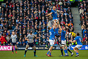 2nd February 2019, Murrayfield Stadium, Edinburgh, Scotland; Guinness Six Nations Rugby Championship, Scotland versus Italy; Sergio Parisse of Italy wins a line out