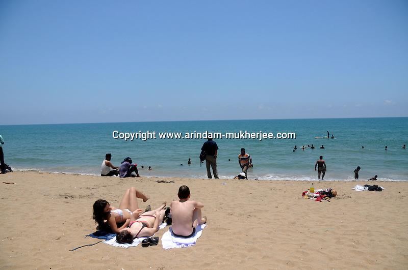 Aurovil beach is a hot spot for sunbathers and swimmers in Pondicherry.Arindam Mukherjee/Sipa