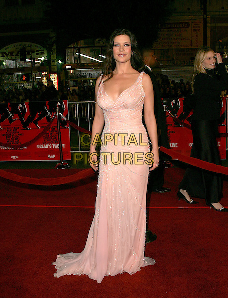 "CATHERINE ZETA-JONES.The Warner Brothers' World Premiere of ""Ocean's Twelve"" held at The Grauman's Chinese Theatre in Hollywood, California .December 8th,2 004.full length, pink dress, jewel encrusted.www.capitalpictures.com.sales@capitalpictures.com.Supplied By Capital PIctures"