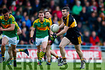 Shane Doolan Dr Crokes in action against Oran Clifford South Kerry in the Senior County Football Final in Austin Stack Park on Sunday