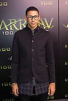 VANCOUVER, BC - OCTOBER 22: Keiynan Lonsdale at the 100th episode celebration for tv's Arrow at the Fairmont Pacific Rim Hotel in Vancouver, British Columbia on October 22, 2016. Credit: Michael Sean Lee/MediaPunch