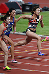Kana Ichikawa (JPN), <br /> AUGUST 25, 2018 - Athletics : Women's 100m ROUND 1 at Gelora Bung Karno Main Stadium during the 2018 Jakarta Palembang Asian Games in Jakarta, Indonesia. <br /> (Photo by MATSUO.K/AFLO SPORT)