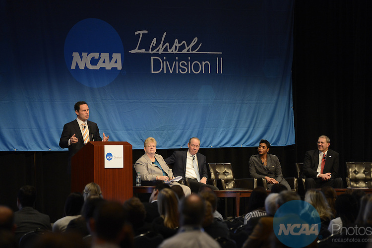 17 JAN 2014: Brian Kilmeade talks with attendees during the Division II General Session - Students. Athletes. Champions. during the 2014 NCAA convention held in San Diego, CA. Justin Tafoya/NCAA Photos