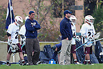 Los Angeles, CA 02/18/11 - LMU Coaches Scott Hochstadt and Peter Dante in action during the Loyola Marymount - BYU game at LMU.