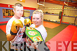 FIGHT NIGHT: Preparing for Ireland's first World Championship KIckboxing fight night taking place in Listowel Community Centre on September 21st were Mike and Naomi O'Brien.