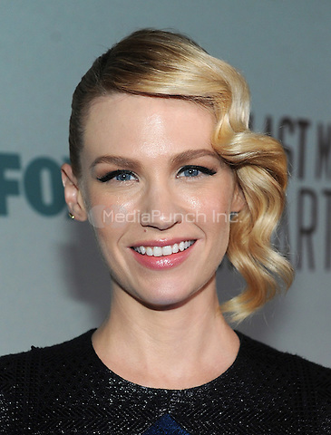 LOS ANGELES - FEBRUARY 24: January Jones  arrives at an exclusive screening of the premiere episode of FOX's 'The Last Man on Earth' at Big Daddy's Antique Shop on February 24, 2015 in Los Angeles, California. Credit: PGFM/MediaPunch