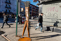 New York, NY - Street sculpture on St Marks Place in the East Village