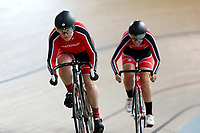 Samantha Jones and Lyndal Donnelly of Canterbury compete in the Masters Women 500m Team Pursuit at the Age Group Track National Championships, Avantidrome, Home of Cycling, Cambridge, New Zealand, Sunday, March 19, 2017. Mandatory Credit: © Dianne Manson/CyclingNZ  **NO ARCHIVING**
