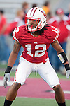 Wisconsin Badgers defensive back Dezmen Southward (12) during warmups prior to the NCAA college football game against the Ohio State Buckeyes on October 16, 2010 at Camp Randall Stadium in Madison, Wisconsin. The Badgers beat the Buckeyes 31-18. (Photo by David Stluka)