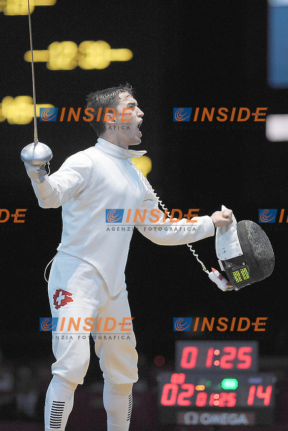 INOSTROZA BUDINICH Paris (CHI) vs HEINZER Max (SUI)  spada.Londra 01/08/2012 .Olympic Games London 2012.Olimpiadi Londra 2012.Foto Giovanni Minozzi / Insidefoto