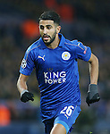 Leicester's Riyad Mahrez in action during the Champions League group B match at the King Power Stadium, Leicester. Picture date November 22nd, 2016 Pic David Klein/Sportimage