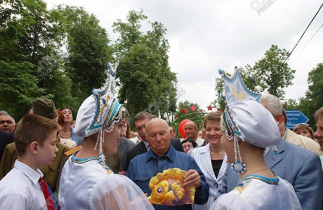 Yuri Luzhkov, the Mayor of Moscow, opens a flower show at the Kuzminki Estate in south-west Moscow, Russia, June 18, 2005