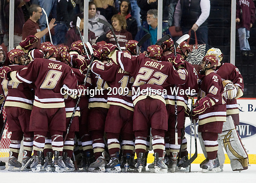 - The Boston College Eagles defeated the University of Massachusetts-Amherst Minutement 3-1 on Friday, December 4, 2009, at the Mullins Center in Amherst, Massachusetts.