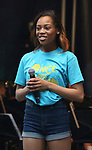 Haley Kilgore performing at the United Airlines Presents: #StarsInTheAlley Produced By The Broadway League on June 1, 2018 in New York City.