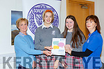 Claire Bowler, Isabel Stevens, Orla O'Shea IS Killorglin and Eimer Moynihan at the Soroptimist International Girl's Public Speaking Competition in Killarney House on Thursday