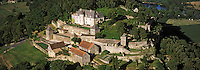 Europe/France/Aquitaine/24/Dordogne/Vallée de la Dordogne: Château de Marquessac , Vue aérienne