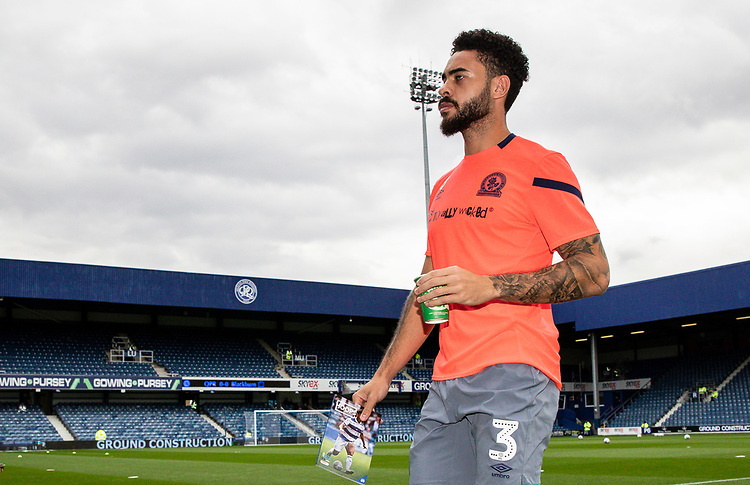 Blackburn Rovers' Derrick Williams pictured before the match<br /> <br /> Photographer Andrew Kearns/CameraSport<br /> <br /> The EFL Sky Bet Championship - Queens Park Rangers v Blackburn Rovers - Saturday 5th October 2019 - Loftus Road - London<br /> <br /> World Copyright © 2019 CameraSport. All rights reserved. 43 Linden Ave. Countesthorpe. Leicester. England. LE8 5PG - Tel: +44 (0) 116 277 4147 - admin@camerasport.com - www.camerasport.com