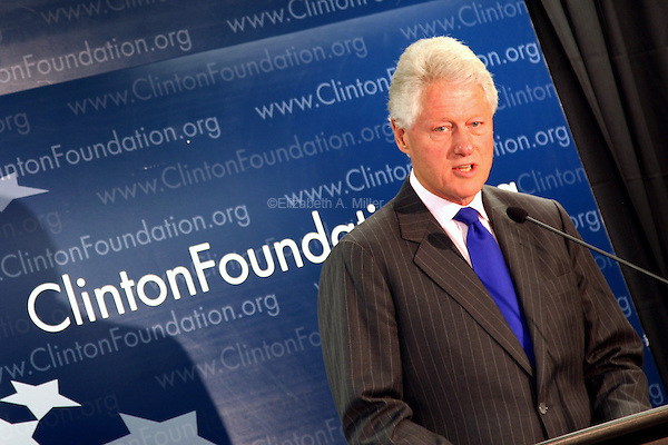 Former President Bill Clinton announces new agreements with six companies to lower prices and ensure a new supply of malaria drugs.