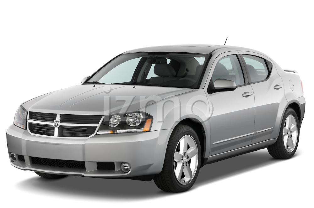 Front three quarter view of a 2008 Dodge Avenger RT.