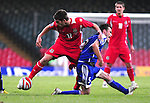 Ched Evans side steps Andreas Gerster. Wales V Liechtenstein, 2010 World Cup Qualifying Group 4 © Ian Cook IJC Photography iancook@ijcphotography.co.uk www.ijcphotography.co.uk