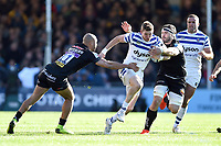 Ruaridh McConnochie of Bath Rugby takes on the Exeter Chiefs defence. Gallagher Premiership match, between Exeter Chiefs and Bath Rugby on March 24, 2019 at Sandy Park in Exeter, England. Photo by: Patrick Khachfe / Onside Images