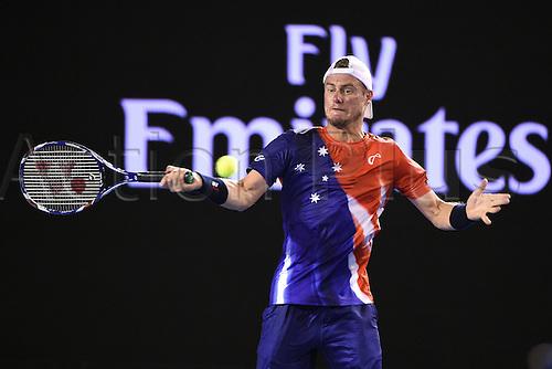 22.01.2016. Melbourne Park, Melbourne, Australia, Australian Open Tennis Championships.  Lleyton Hewitt (AUS)