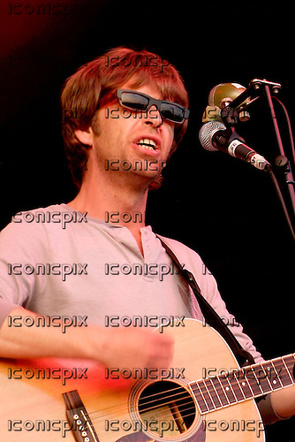 The LA's - vocalist and guitarist Lee Mavers - performing live on Day 2 on the Other Stage at the 2005 Glastonbury Festival held at Pilton Farm in Somerset UK - 26 Jun 2005.  Photo credit: George Chin/IconicPix