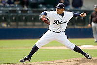June 8, 2008: Tacoma Rainiers' Cesar Jimenez delivers a pitch during a Pacific Coast League game against the Fresno Grizzlies at Cheney Stadium in Tacoma, Washington.