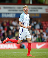 Taylor Moore (Bristol City) of England during the International match between England U20 and Brazil U20 at the Aggborough Stadium, Kidderminster, England on 4 September 2016. Photo by Andy Rowland / PRiME Media Images.
