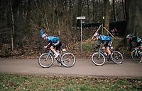 Wout Van Aert (BEL/Vérandas Willems-Crelan) coming down the Kemmelberg<br /> <br /> Driedaagse Brugge-De Panne 2018<br /> Bruges - De Panne (202km)