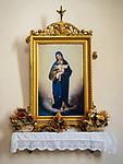 Madonna painting, Church of the Madonna dei Lumi, San Gimignano, Siena-Tuscano, Italy