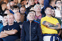 LEEDS, ENGLAND - AUGUST 31: Swansea supporters during the Sky Bet Championship match between Leeds United and Swansea City at Elland Road on August 31, 2019 in Leeds, England. (Photo by Athena Pictures/Getty Images)