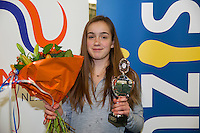 Rotterdam, The Netherlands, March 20, 2016,  TV Victoria, NOJK 14/18 years, Runner up girls 14 years: Julie Belgraver (NED)<br /> Photo: Tennisimages/Henk Koster