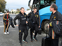 20190304 - LARNACA , CYPRUS :  Belgian head coach Ives Serneels pictured with Physical coach Gil Benedetti during a women's soccer game between Nigeria and the Belgian Red Flames , on Monday 4 th March 2019 at the GSZ Stadium in Larnaca , Cyprus . This is the third and last game in group C for both teams during the Cyprus Womens Cup 2019 , a prestigious women soccer tournament as a preparation on the Uefa Women's Euro 2021 qualification duels. PHOTO SPORTPIX.BE | DAVID CATRY