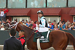 April 12, 2014: #1 Danza with jockey Joe Bravo after winning the Arkansas Derby at Oaklawn Park in Hot Springs, AR. Justin Manning/ESW/CSM