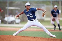 Charez Butcher (32) during the WWBA World Championship at the Roger Dean Complex on October 10, 2019 in Jupiter, Florida.  Charez Butcher attends IMG Academy in Bradenton, FL, is from Kokomo, IN and is committed to Tennessee.  (Mike Janes/Four Seam Images)