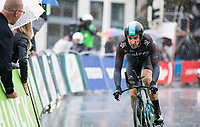 Elia Viviani (ITA/Team Sky) in the rain<br /> <br /> <br /> Binckbank Tour 2017 (UCI World Tour)<br /> Stage 2: ITT Voorburg (NL) 9km
