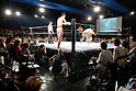 May 17, 2008, Tokyo, Japan - Spectators watch a wrestling bout. 350 people attended the event, the 76th organized by the Doglegs wrestling group.  (Photo by Tony McNicol/AFLO)
